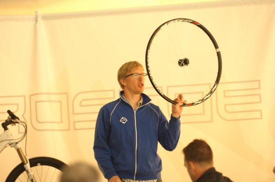 "Aaron Mock, PM for Gary Fisher, presents a 29"" wheelset"