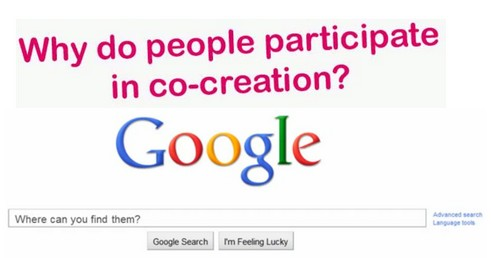 Why do people participate in co-creation & Where do you find them