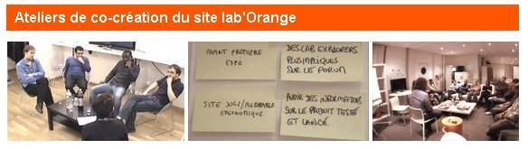 ateliers de co-création chez Orange