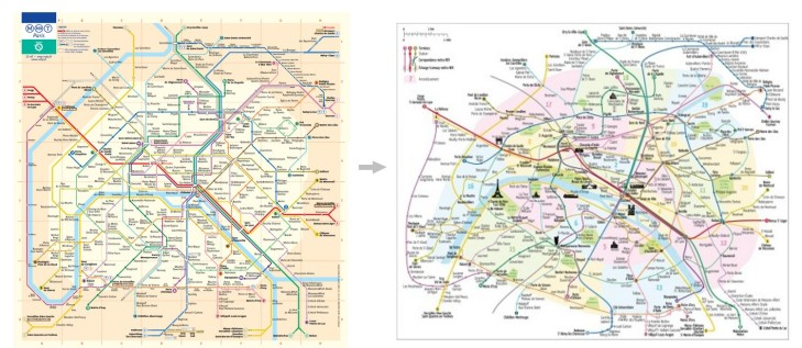 paris subway maps