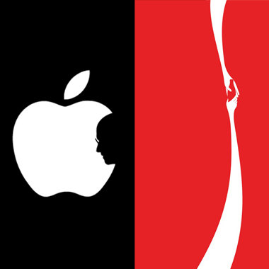 steve jobs apple and coke hands