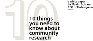 10 things you need to know about community research