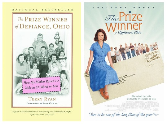 The book cover (left) and the movie poster (right)