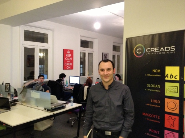 Julien Méchin (right) and Ronan Pelloux (left), the co-founders of Creads, in their brand new Paris office