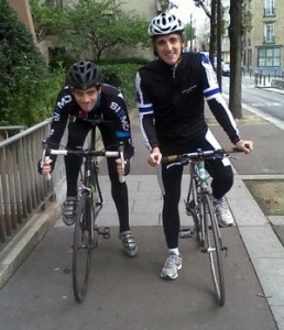 One of the first training rides in late 2012