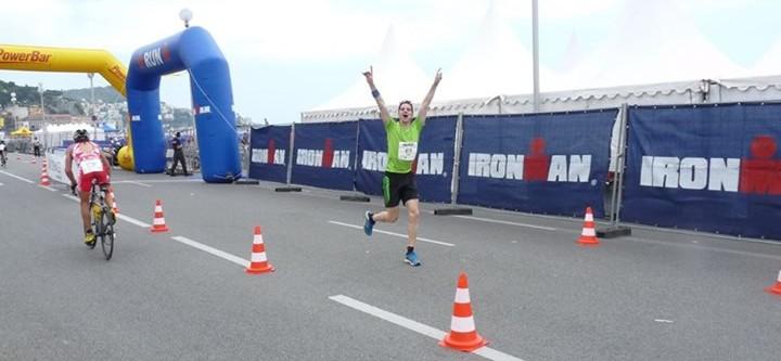 At the start of the marathon
