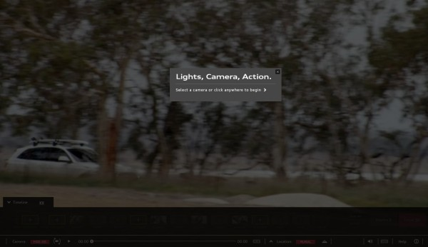 """Light, Camera, Action: """"Select a camera or click anywhere to begin"""""""