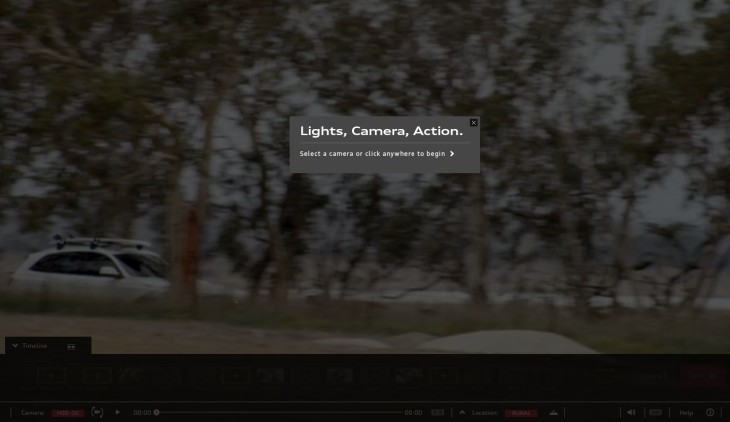 "Light, Camera, Action: ""Select a camera or click anywhere to begin"""