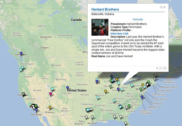 "The ""Herbert Brothers"" (Joe and Dave Herbert) from Indiana. Click to see my ""Creatives in the Crowd"" map"