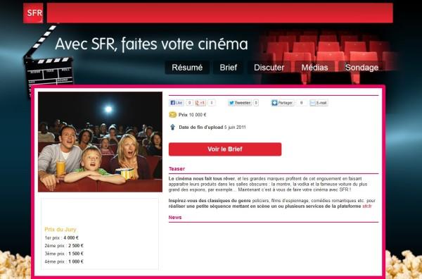 concours sfr cinema 2011 eyeka