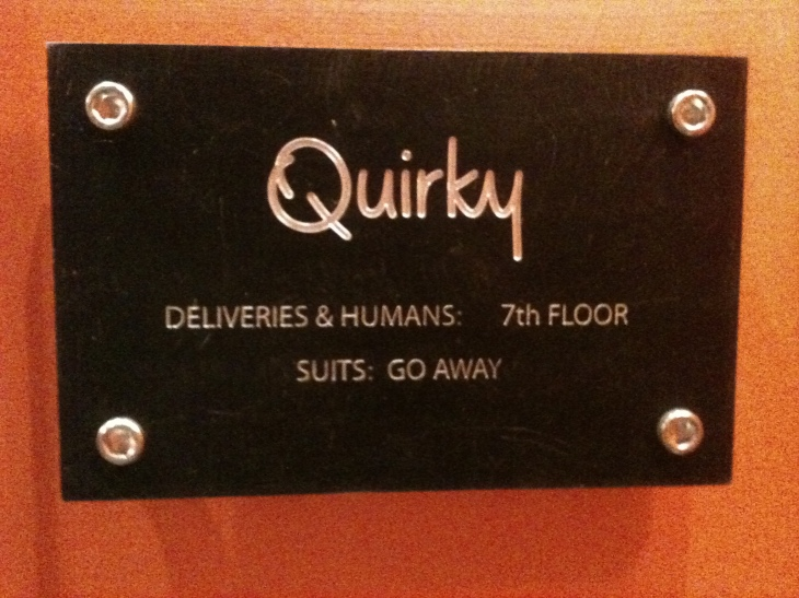 Quirky office plate NYC