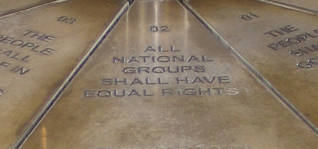 The Freedom Charter memorial in Kliptown, South-Africa (image via documentblog.de)