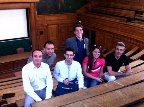 Professor Jean-François Lemoine, Mohammed Ghaibi, Nor Bouchetara, myself, Emna Chérif and Laurent Butery
