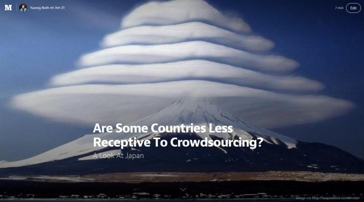 Crowdsourcing Japan
