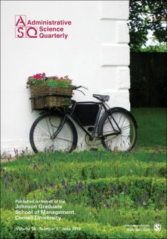The cover of an ASQ issue from June 2012, which I chose only because of the bicycle! (Image via ManagementINK)