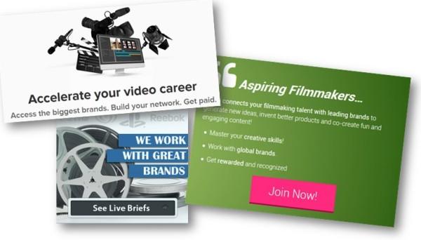 Video Contest Website Landing Pages
