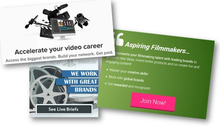 Video Contest Website Landing Pages