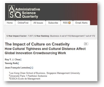 Click to access ASQ article page