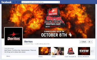 Doritos announced return of the 2012-2013 season of Crash the Super Bowl  (image via videocontestnews.com)