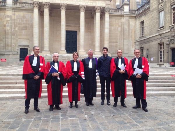 François Pétavy (eYeka), Prof. Decaudin (Université Toulouse), Prof. Le Nagard (ESSEC), Recteur Steyer (Université Paris 1 Panthéon Sorbonne), moi, Prof. Lemoine (Université Paris 1 Panthéon Sorbonne) and Prof. Morisse (ESSCA Ecole de Management)