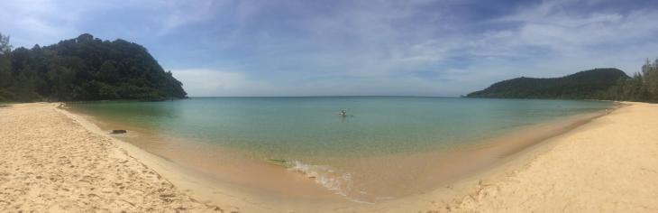 Koh Rong Samloen Lazy Beach Panorama